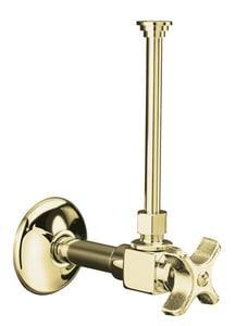 Kohler 3/8 in Four Arm Handle Angle Supply Stop Valve in Vibrant French Gold K7637-AF