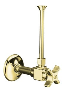 Kohler 3/8 in Four Arm Handle Angle Supply Stop Valve in Vibrant Polished Brass K7637-PB