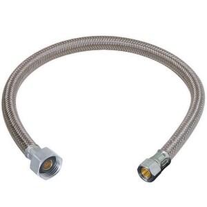Brass Craft Speedi Plumb® PLUS 3/8 in x 1/2 in. x 12 in. Braided PVC Sink Flexible Water Connector BB1AF