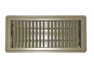 PROSELECT® 14 x 4 in. Floor Register for Residential in Brown Steel PSDFDBP14