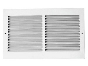 PROSELECT® 12 x 6 in. Residential 1-way Return Grille in White Steel PSRGW12U