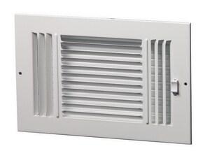 PROSELECT® 12 in. Steel Ceiling/Sidewall Register in White PS3WW12