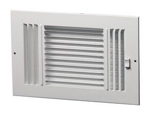 PROSELECT® 16 x 8 in. Steel Ceiling/Sidewall Register in White PS3WW16X