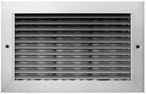 PROSELECT® 10 x 10 in. Commercial 1-way Return Grille in White Aluminum PSAH45W1010
