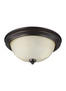 Seagull Lighting Geary 5-1/2 in. 60W 2-Light Medium E-26 Base LED Flushmount Ceiling Fixture in Burnt Sienna GL77064710