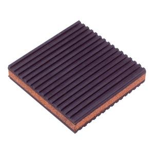Diversitech 4 x 4 x 7/8 in. Rubber and Cork Anti-Vibration Pad DIVMP4C