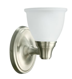 KOHLER Forte® 1 Light 100W Transitional Up or Down Bath Wall Sconce Brushed Nickel K11365-BN