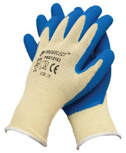 PROSELECT® Size L Rubber Palm Cut and Abrasion Resistant Gloves PSG1215