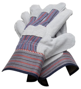 PROSELECT® Cowhide Leather General Duty Driver Gloves in Grey, Blue and Red PSG2045 at Pollardwater
