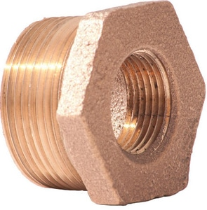 2 x 1/2 in. MNPT x FNPT Brass Reducing Bushing IBRLFBKD at Pollardwater