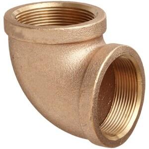 1 in. FNPT Brass 90 Degree Elbow IBRLF9G at Pollardwater