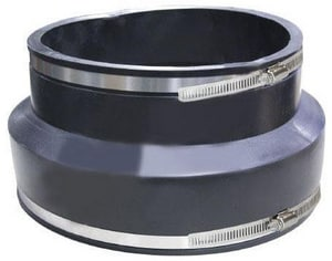 Fernco 1006 Series 8 in. Concrete x Cast Iron Straight Elastomeric PVC Flexible Coupling F100688 at Pollardwater
