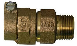 A.Y. McDonald 1-1/2 in. CTS Compression x MIP Brass Straight Coupling Lead Free M7475322J at Pollardwater