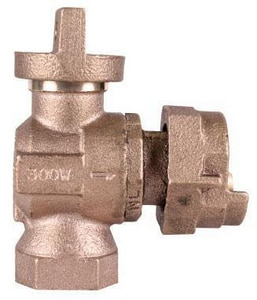 A.Y. McDonald 74604B 3/4 in. FNPT x Meter Angle Ball Supply Stop Valve Lead Free M74644BF at Pollardwater