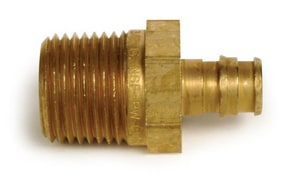 Uponor ProPEX® 1/2 x 3/4 in. PEX x MPT Brass Male Adapter ULF4525075