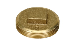 PROFLO® 2 in. MIP Raised Square Head Cut IPS Brass Plug PFBP5RHK