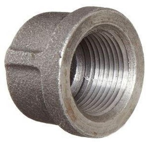 1/2 in. Threaded 150# Black Malleable Iron Cap IBCAPD at Pollardwater