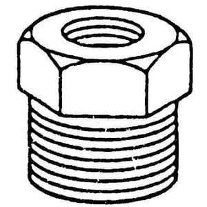 1-1/2 x 3/8 in. Threaded 150# 304L Stainless Steel Bushing IS4CTBJC