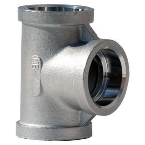 1/2 in. Socket Weld 150# 304L Stainless Steel Tee IS4CST