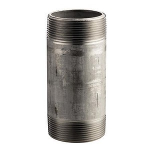 3/8 in. MNPT Schedule 40 316L Stainless Steel Weld Threaded Both End Nipple DS46NC
