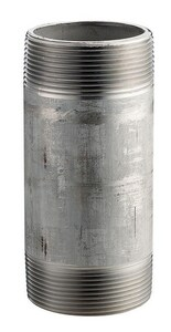 2 x 2-1/2 in. Threaded Both End Schedule 80 316L Stainless Steel Seamless Nipple DS86SNKL