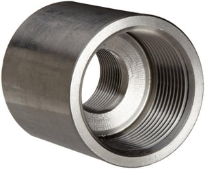 1-1/4 x 1/2 in. Threaded 150# 304L Stainless Steel Coupling IS4CTCHD