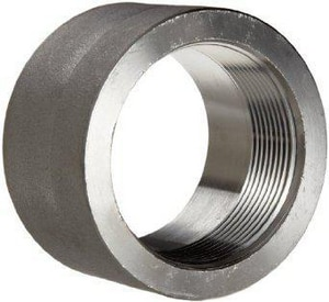 1-1/2 in. Threaded 3000# 316L Stainless Steel Half Coupling IS6L3THCJ