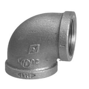 1-1/2 in. Threaded 150# Galvanized Malleable Iron 90 Degree Elbow IG9J at Pollardwater