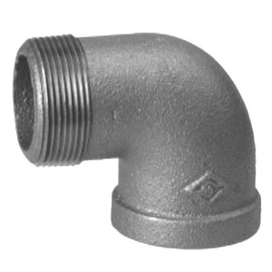 4 in. Threaded 150# Street Galvanized Malleable Iron 90 Degree Elbow IGS9P at Pollardwater