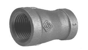 1-1/2 x 1/2 in. Threaded 150# Black Malleable Iron Reducing Coupling IBRCJD