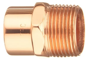 3/8 x 1/2 in. Copper x Male Adapter CMACD