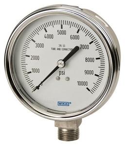 WIKA Bourdon 4 in. 15 psi 1/4 in. MNPT Glycerin Filled Pressure Gauge W9832348 at Pollardwater