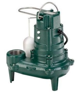Zoeller Waste-Mate 2 in. 115V 9.4A 1/2 hp 128 gpm NPT Cast Iron Sewage Pump Z2670001 at Pollardwater