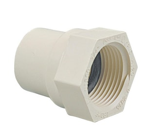 Evertuff® 1/2 in. Socket x NPSC Straight CTS CPVC Adapter with Gasket S41350OR