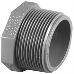 Xirtec® 1/2 in. MPT Straight Schedule 80 PVC Plug P80TP at Pollardwater
