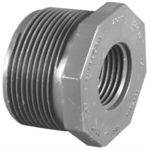 1-1/4 x 1 in. MPT x FPT Reducing Schedule 80 PVC Bushing P80TBHG at Pollardwater
