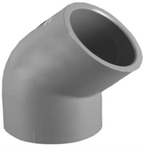 Xirtec® 1 in. Socket Straight Schedule 80 PVC 45 Degree Elbow P80S4G at Pollardwater