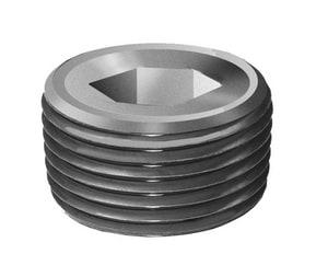 1-1/4 in. Threaded Black Steel HEX Countersunk Plug BSHCPH