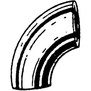 8 in. Weld Standard Long Radius Carbon Steel 90 Degree Elbow DW9X