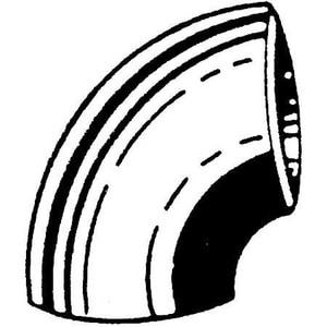 10 in. Weld Standard Short Radius Carbon Steel 90 Degree Elbow GWSR910