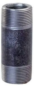 3/4 x 1-1/2 in. Threaded Black Steel Nipple IBNF