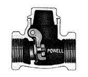 William Powell Co Figure 1847 1/2 in. Stainless Steel Threaded Swing Check Valve P1847TM0TXXXD