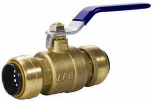 Elkhart Products Corporation 210 Series 1/2 in. Brass Push 200# Ball Valve CTBVLFD