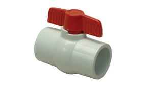 PROFLO® PFPSBV Series 2-1/2 in. PVC Reduced Port Solvent Weld Ball Valve PFPSBVL