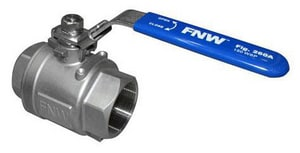FNW® 1/2 in. 316 Stainless Steel Full Port Threaded 1000# Ball Valve FNW260AD at Pollardwater