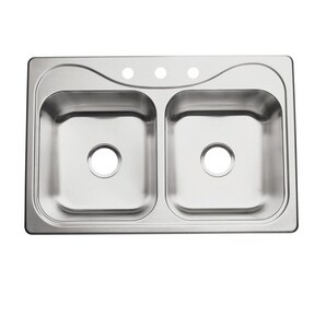 Sterling Southhaven® 2-Bowl Topmount Kitchen Sink with Center Drain S11401NA