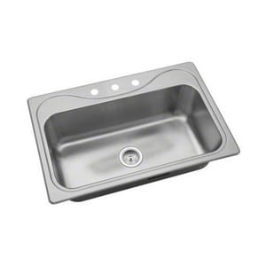 Sterling Southhaven® 33 x 22 in. Single Bowl Basin Sink 3 Hole S370473NA