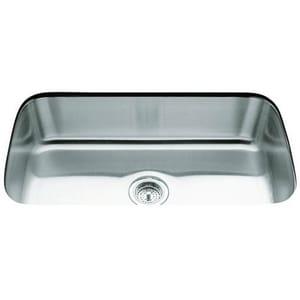Kohler Undertone® 31-1/2 x 17-3/4 in. Stainless Steel Single Bowl Undermount Kitchen Sink K3183-NA