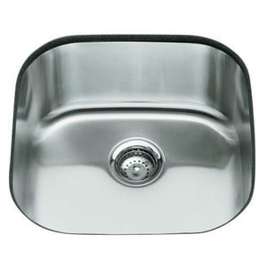 Kohler Undertone® Undermount Round Kitchen Sink in Stainless Steel K3335-NA