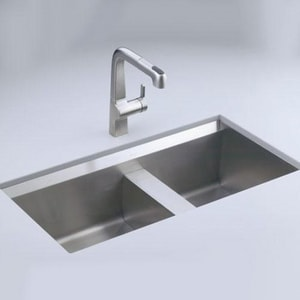 Kohler 8 Degree™ 33 x 18 in. Stainless Steel Double Bowl ...
